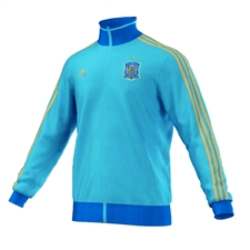 Adidas FEF Spain Track Top (Bright Cyan/Craft Blue/Light Football Gold)