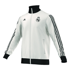 Adidas Real Madrid 2014-15 Soccer Track Jacket (White/Black)