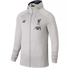 New Balance Liverpool FC Travel Full Zip Hoodie (Grey Marl)