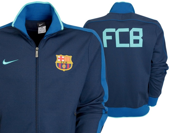 76.49 - Nike FC Barcelona N98 Track Jacket  10- 11 (Navy ... d68be2acb