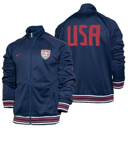 Nike USA Core Trainer Jacket (Dark Obsidian/Red/White)