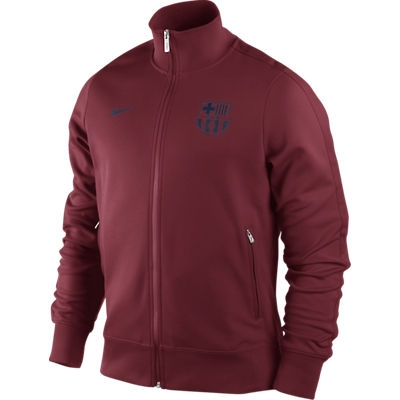 sports shoes 09a7f 2f638 Nike FC Barcelona Core Authentic N98 Training Soccer Jacket (Red/Navy)