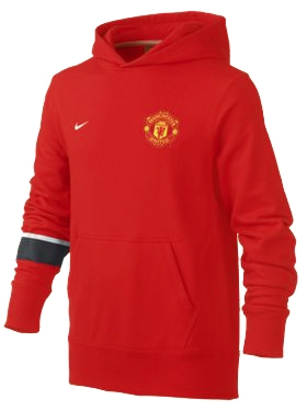 online store dc214 7c4fd Nike Youth Manchester United Soccer Hoodie (Red/White/Red)
