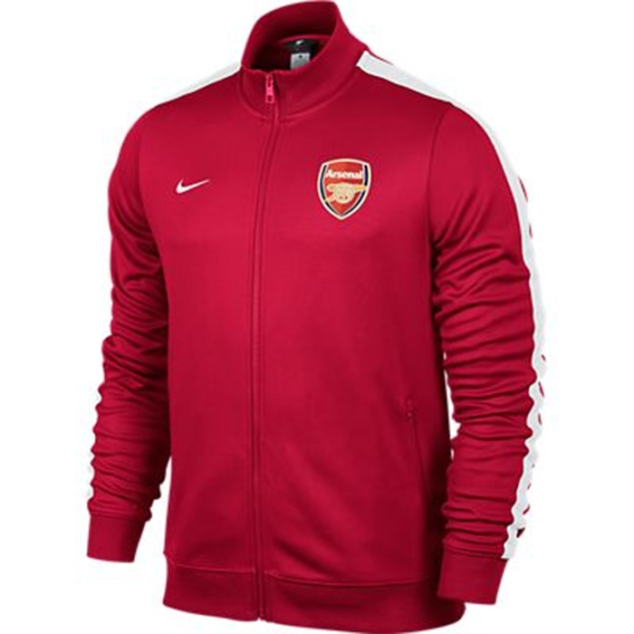 official photos 4e886 bc57e Nike Arsenal FC 2013 Authentic N98 Training Soccer Jacket (Artillery  Red/White)