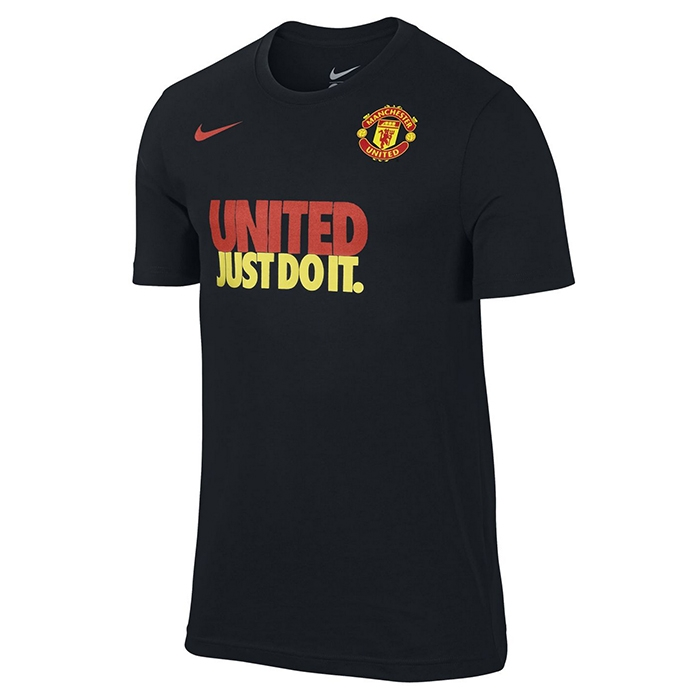 e11ce417a Nike Manchester United Just Do It Core Read T-Shirt (Black ...
