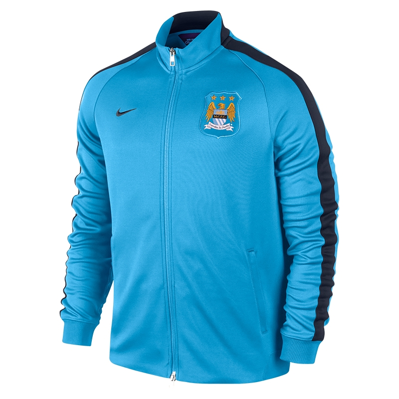 Nike Manchester City 2014 Authentic N98 Training Soccer Jacket (Field  Blue Obsidian)  7b4d82c15