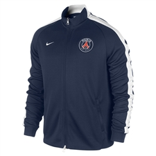 Nike Paris St. Germain  N98 Authentic Training Soccer Jacket (Midnight Navy/Football White)