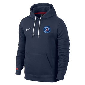 Nike Paris St. Germain Core Soccer Hoodie (Midnight Navy/Pimento/White)