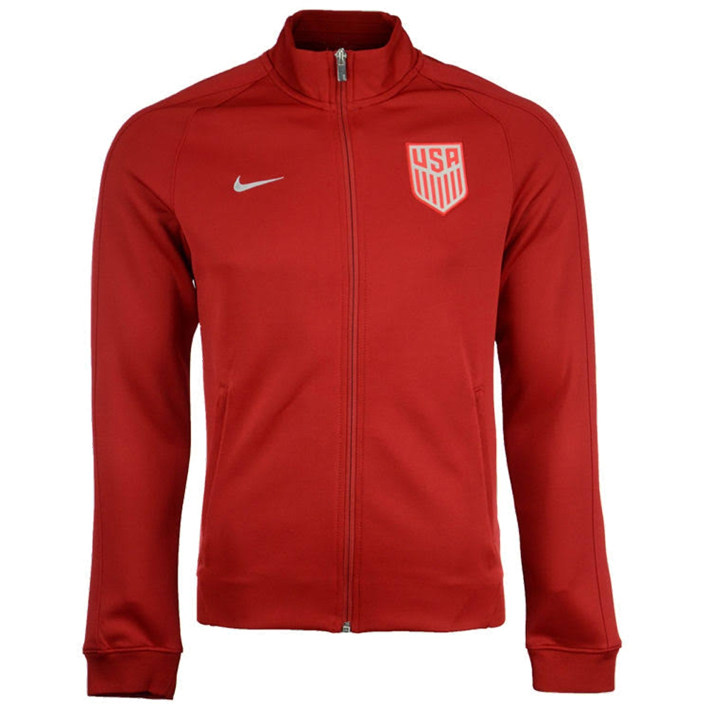 5df87c3b6 Nike USA NSW N98 Authentic Track Jacket (Gym Red/Metallic Silver ...