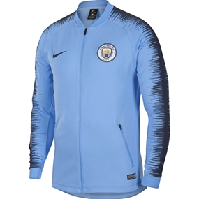 Nike Manchester City FC Anthem Jacket (Field Blue/Midnight Navy)