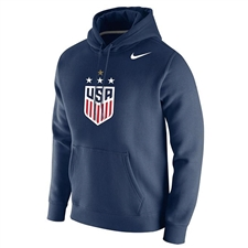 Nike USWNT Champions 2019 Club Fleece Hoodie (Navy)