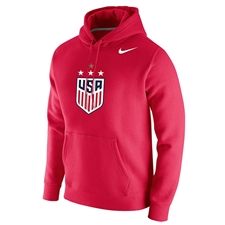 Nike USWNT Champions 2019 Club Fleece Hoodie (University Red)