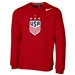 Nike USWNT Champions 2019 Club Fleece Crew (University Red)