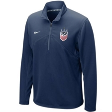 Nike USWNT Champions 2019 1/4 Zip Top (Navy)