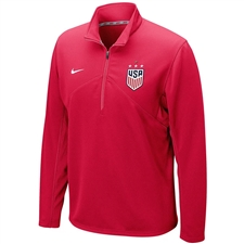 Nike USWNT Champions 2019 1/4 Zip Top (University Red)