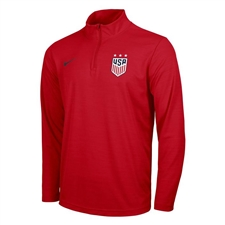 Nike USA 3-Star Intensity 1/4 Zip Top (University Red)