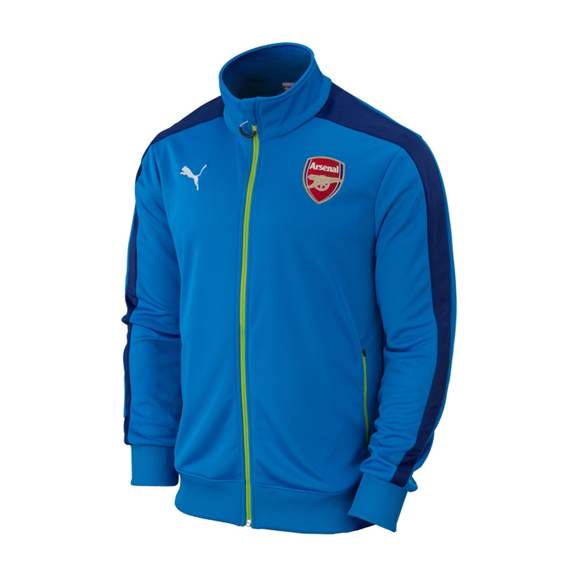 ab0969fd3 Puma Arsenal T7 Anthem Soccer Jacket (Methyl Blue Estate Blue ...