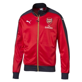 Puma Arsenal Home Stadium Jacket (High Risk Red/Black Iris/Victory Gold)