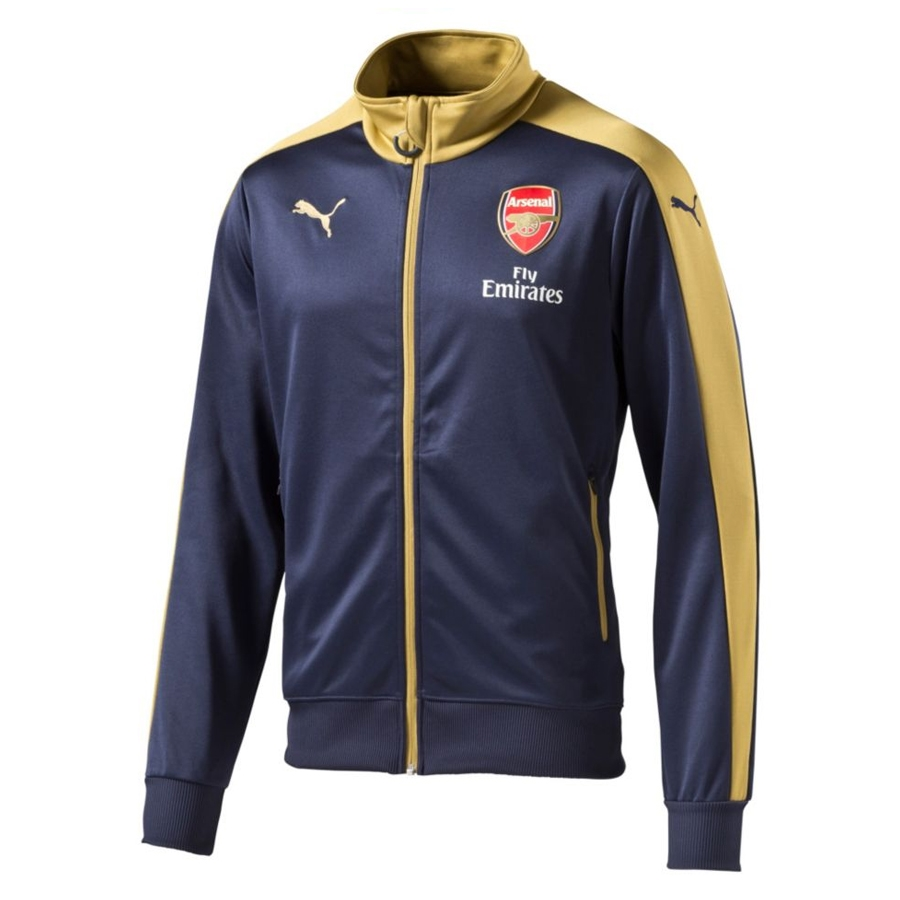 Puma Arsenal Away Stadium Jacket (Black Iris/Victory Gold)
