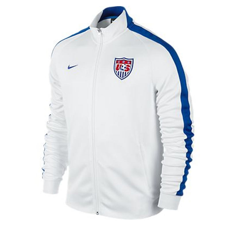 Nike USA Women's N98 Authentic Track Jacket (White/Game Royal)