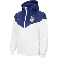 Nike USA Women's 4 Star Windrunner Jacket (White/Blue Void)
