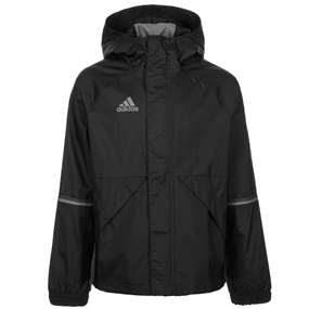 Adidas Youth Condivo 16 Rain Jacket (Black/Vista Grey)