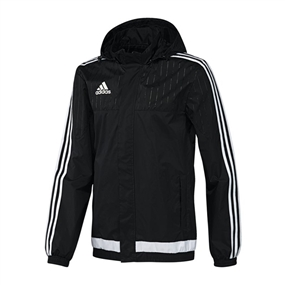 Adidas Youth Tiro 15 Rain Jacket (Black/White)