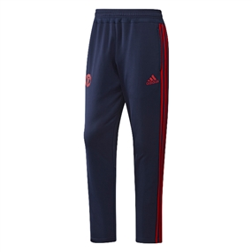 Adidas Men's Manchester United 2015 Training Pant (Dark Blue/Scarlett)
