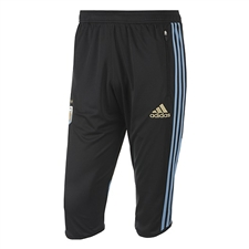 Adidas Men's AFA Argentina 3/4 Training Pant (Black/Columbia Blue)