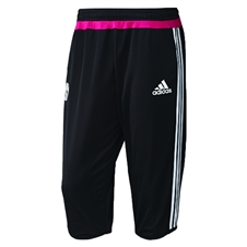 Adidas Men's Juventus 2015 3/4 Training Pants (Black/White/Pink)