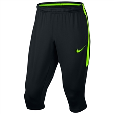 Nike Dry Squad 3/4 Soccer Pants (Black/Electric Green)
