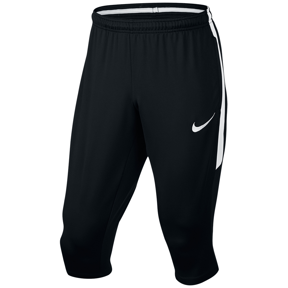 nike dry squad 3 4 soccer pants black white 833043 013. Black Bedroom Furniture Sets. Home Design Ideas