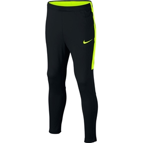 Nike Youth Dry Academy Soccer Pants (Black/Volt)