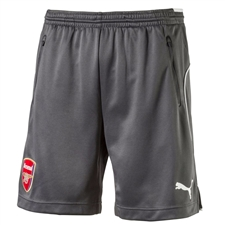 Puma Arsenal '17-'18 Training Soccer Shorts (Dark Shadow/Puma White)