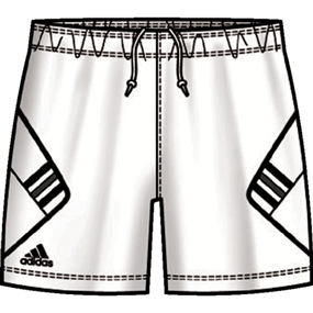 Adidas Women's On Field Soccer Shorts (White/Black)