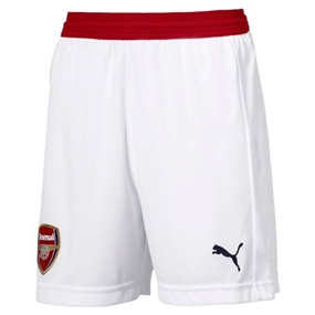 Puma Youth Arsenal Replica Shorts '18-'19 (White/Chili Pepper)