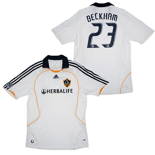 wholesale dealer 85d9c 9c048 Adidas LA Galaxy #23 David Beckham Men's Replica 2008 Home Jersey (White)