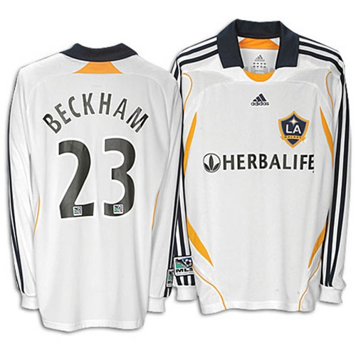 34.99 - Adidas LA Galaxy  23 David Beckham Youth Replica Home Long Sleeve  Jersey -  f69b99df2