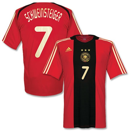 official photos 89b7d 3f71a Adidas Germany Away SCHWEINSTEIGER 7 Replica '08 Jersey (Dark  Red/Black/Gold)