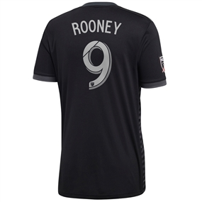 Adidas MLS D.C. United 'ROONEY 9' 2018 Primary Replica Jersey (Black)