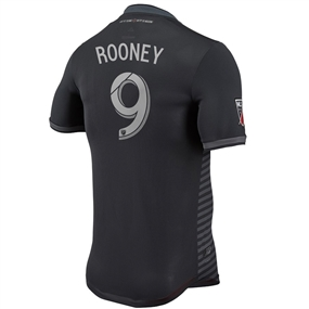 Adidas MLS D.C. United 'ROONEY 9' 2018 Primary Authentic Jersey (Black)