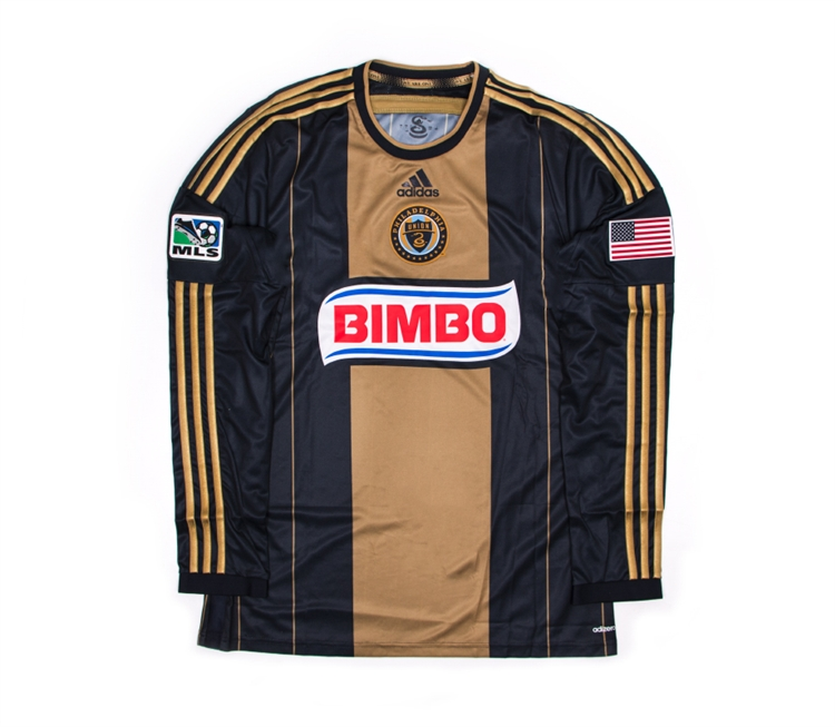 buy popular aa1da 48d5f Adidas MLS Philadelphia Union 2014 Long Sleeve Home Authentic Soccer Jersey