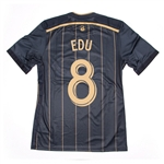 Adidas MLS Philadelphia Union 2014-2015 Home 'EDU 8' Authentic Soccer Jersey