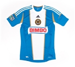 Adidas MLS Philadelphia Union 2012 Away Replica Soccer Jersey (Signal Blue/White/Khaki)