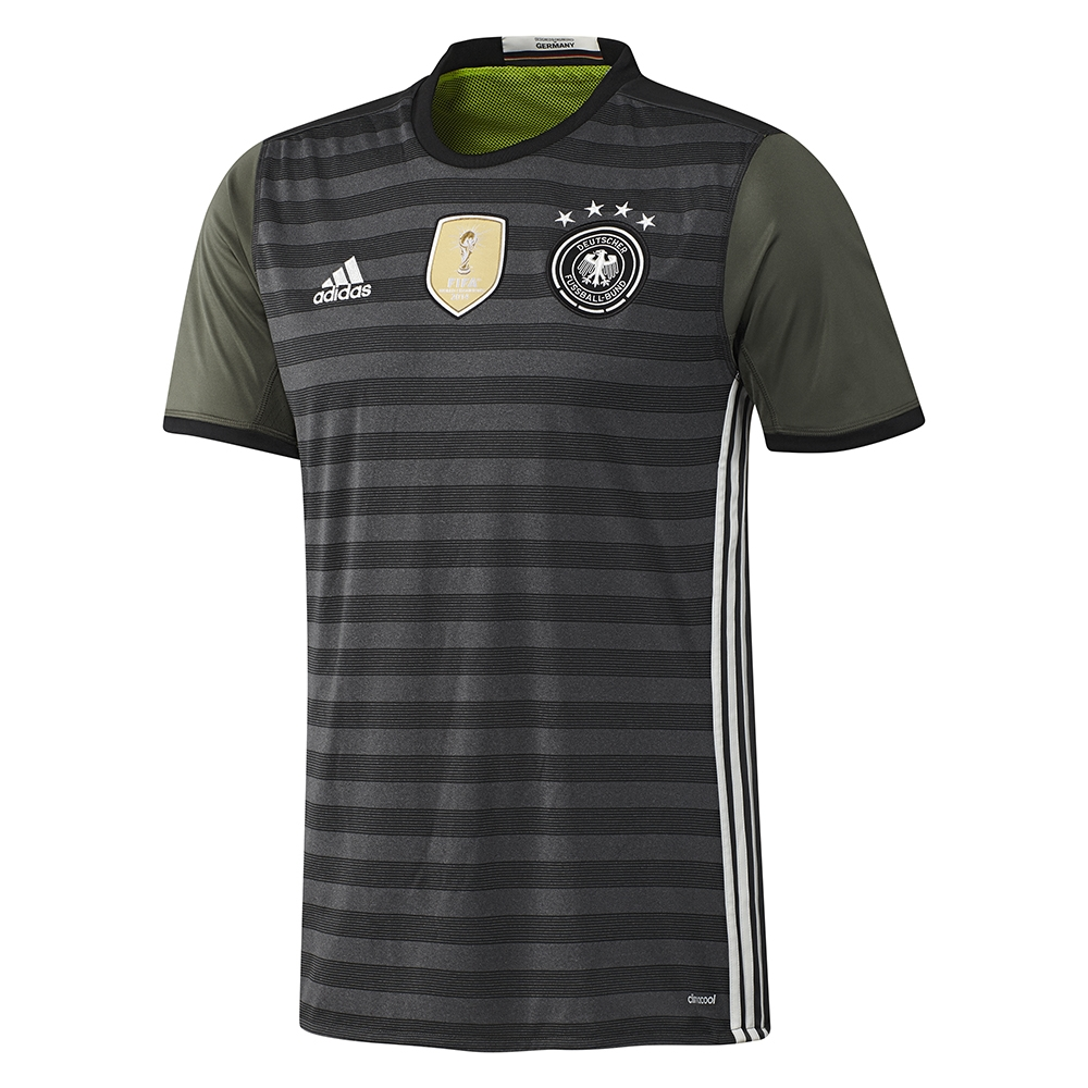 14b2f60668b Germany Away Soccer Jersey (Dark Grey Heather Off White Base Green ...