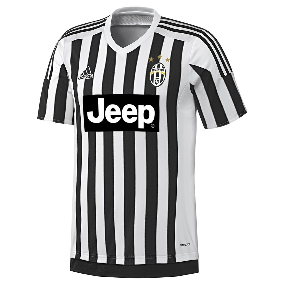 e348cce7d Adidas Juventus  15- 16 Home Soccer Jersey (White Black)
