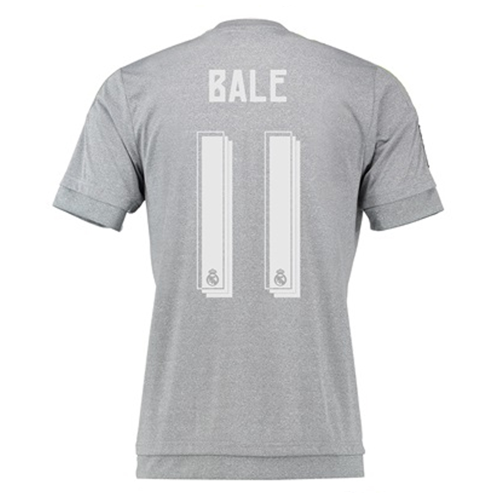 new product 45cd6 a1a25 Adidas Real Madrid 'BALE 11' Away '15-'16 Soccer Jersey (Grey)