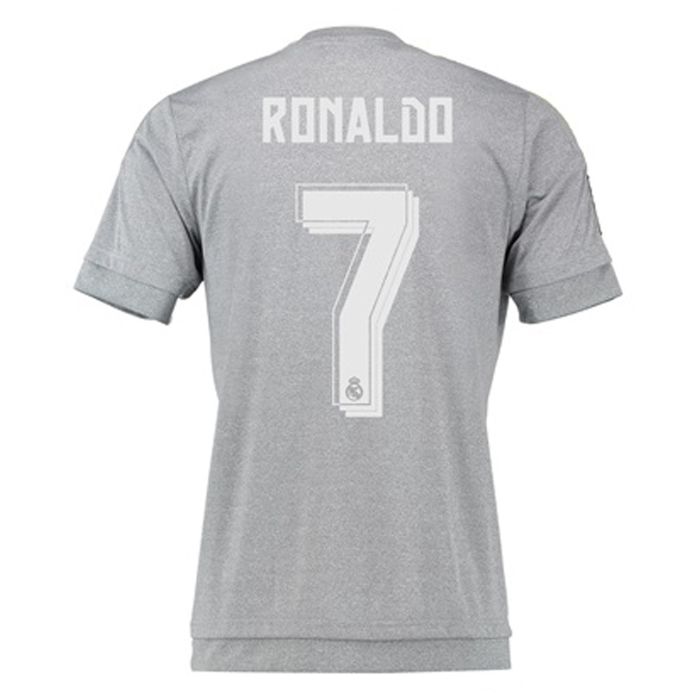 buy online 077f0 7520a Adidas Real Madrid 'RONALDO 7' Away '15-'16 Soccer Jersey (Grey)