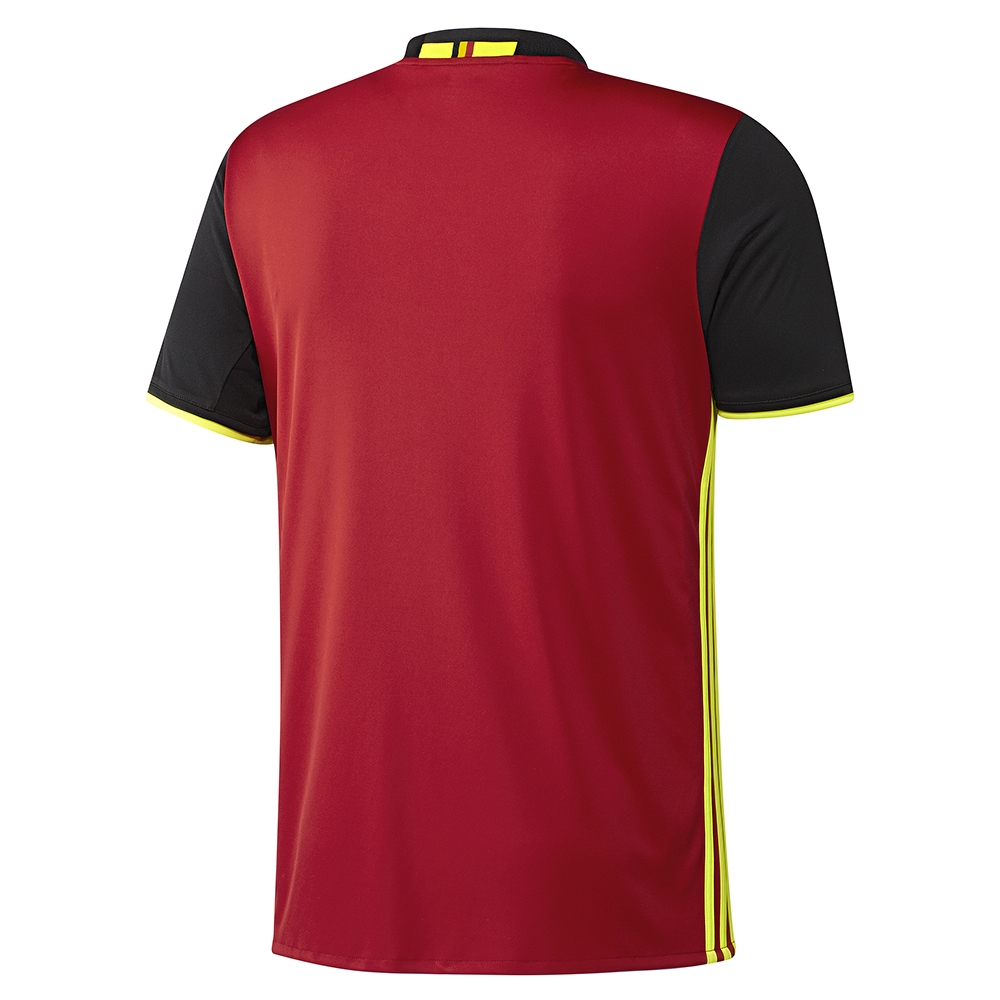 a394f36bb Adidas Belgium 2015-16 Home Soccer Jersey (Scarlet Black Solar Yellow)