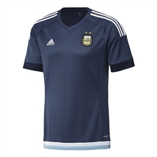 Adidas Argentina Away 2015 Replica Soccer Jersey (Night Marine/White)